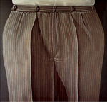 Striped Trousers, 1969 by Domenico Gnoli