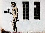 Fast Food Caveman by Street Art