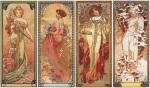 Les Saisons, 1900 by Alphonse Mucha