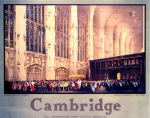 Cambridge - Queen Elizabeth visits King's College by National Railway Museum