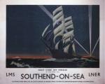 Southend-On-Sea - Night scene off Pierhead