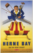 Herne Bay - Man with Deckchair by National Railway Museum