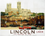 Lincoln - Cathedral with Boats
