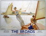 The Broads - Girl Waving from Boat