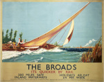 The Broads - Boat Blowing to Side