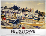 Felixstowe - Beach Huts by National Railway Museum