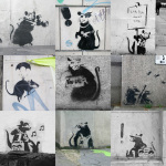 Banksy - Rats Collage