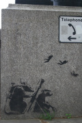 Banksy - Embankment Rats 1 by Panorama London