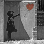 Banksy - New North Road (B&W)