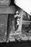 Banksy - Regents Canal (B&W) by Panorama London
