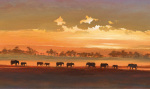 Wading Elephants by Jonathan Sanders