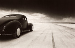 '40 Coupe At Takeoff by David Perry
