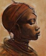 Masai Woman I by Jonathan Sanders