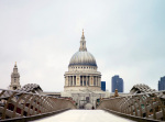 The Millennium Bridge and St Paul's Cathedral by Anonymous