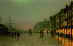Liverpool Docks from Wapping Wharf by John Atkinson Grimshaw