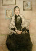 Johanna Karolina Larsson, the artist's mother 1893 by Carl Larsson