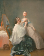 Before the First Ball (portrait of two unknown ladies), c.1755-60 by Alexander Roslin