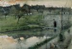 The Pond at Grez-sur-Loing 1883 by Carl Larsson