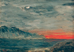 Sunset 1892 by August Strindberg