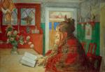 Karin reading 1904 by Carl Larsson