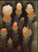 Wachstum der Nachtpflanzen (growth of the nightplants), 1922 by Paul Klee