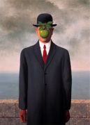 Le fils de l'homme (Son of Man) by Rene Magritte