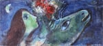 Woman with Green Donkey by Marc Chagall