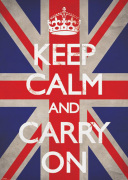 Keep Calm and Carry On - Union Jack by Anonymous