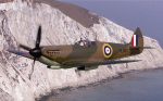 Spitfire at the White Cliffs of Dover