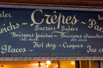 Creperie sign, Ile Saint-Louis, Paris, France by Sergio Pitamitz