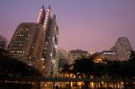 Sin Hua Bank and HSBC Building, Central District, Hong Kong, China by Sergio Pitamitz