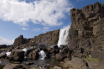 Oxararfoss waterfall on Mid-Atlantic Rift, Thingvellir National Park, Iceland by Sergio Pitamitz