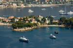 St Jean Cap Ferrat from the air, Cote d'Azur, France by Sergio Pitamitz