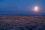 Landscape under moonlight, Badlands National Park, South Dakota, USA by Sergio Pitamitz