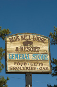 Blue Bell Lodge sign, Custer State Park, Black Hills, South Dakota, USA by Sergio Pitamitz