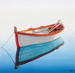 Boat in a Tranquil Bay by Horacio Cardozo