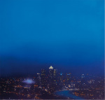 Blue Canary Wharf (Study) by Jenny Pockley