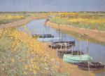 Fields near Arles by Nicholas Verrall