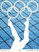 London 2012 Official Poster - Divers by Anthea Hamilton