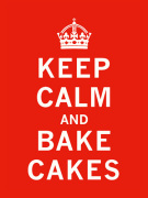 Keep Calm and Bake Cakes by The Vintage Collection