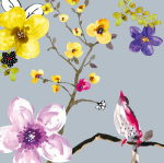 Blossom Birds I by Sandra Jacobs