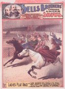 Sells Bros Circus - Ladies Flat Race, 1883 by Anonymous
