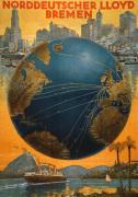 Norddeutscher Lloyd Shipping, 1920 by Bernd Steiner