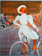 Usines Deline - Cars and Cycles, 1898 by Georges Gandy