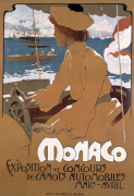 Monaco Motorboat Exhibition, 1900 by Adolfo Hohenstein