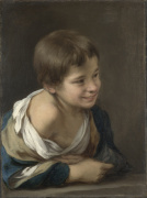 A Peasant Boy leaning on a Sill by Bartolomé Esteban Murillo