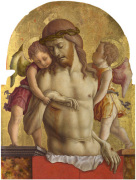The Dead Christ supported by Two Angels by Carlo Crivelli