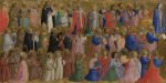 The Virgin Mary with the Apostles and Other Saints: Inner Left Predella Panel by Fra Angelico