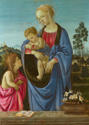 The Virgin and Child with Saint John by Filippino Lippi