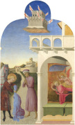 Saint Francis meets a Knight Poorer than Himself and Saint Francis's Vision of the Founding of the Franciscan Order by Sassetta